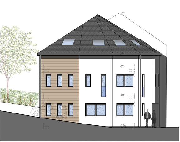 Transformation d une maison canach romain lambay for Architecte transformation maison